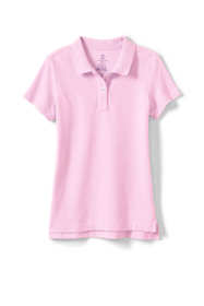 Girls Short Sleeve Feminine Fit Mesh Polo Shirt