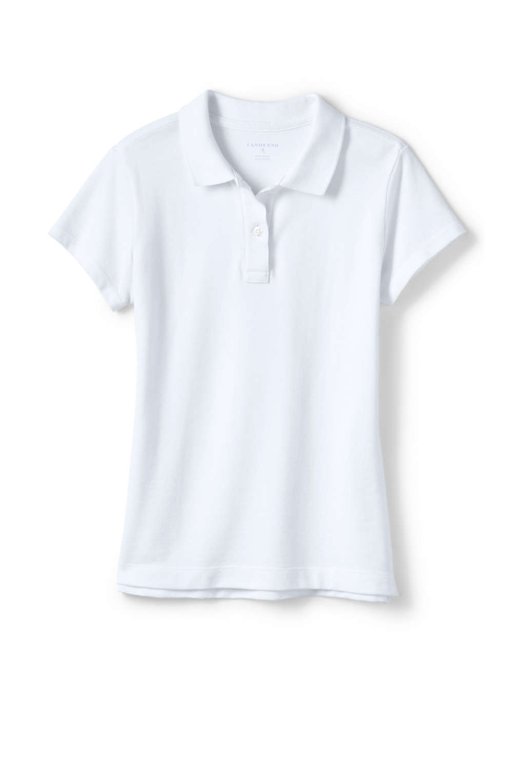22d8e3a8e School Uniform Fem Fit Short Sleeve Mesh Polo from Lands' End