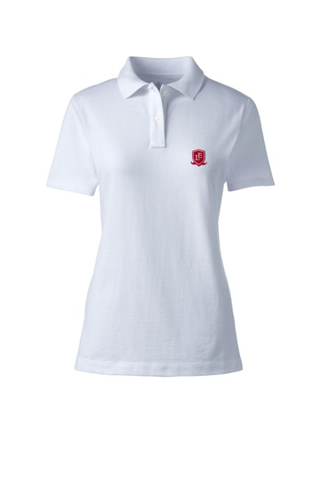 School Uniform Logo Women's Fem Fit Short Sleeve Mesh Polo