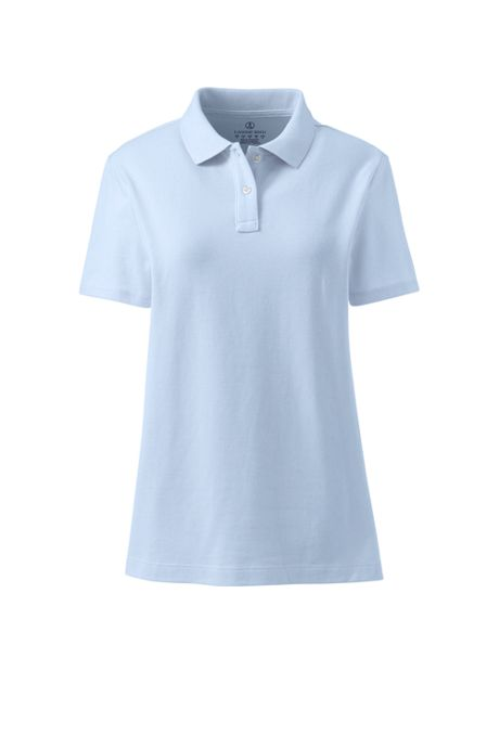 School Uniform Women's Short Sleeve Feminine Fit Mesh Polo Shirt