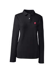 School Uniform Logo Women's Fem Fit Long Sleeve Mesh Polo