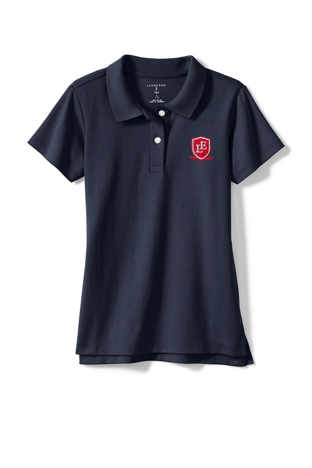 5e7a14df462 School Uniform Logo Girls Short Sleeve Fem Fit Interlock Polo from ...