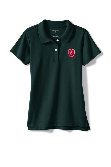 Exclusive Little Girls Short Sleeve Fem Fit Interlock Polo