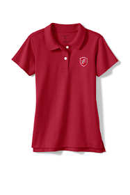School Uniform Logo Girls Short Sleeve Fem Fit Interlock Polo