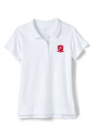 School Uniform Logo Little Girls Short Sleeve Fem Fit Interlock Polo