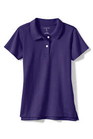 School Uniform Little Girls Short Sleeve Feminine Fit Interlock Polo Shirt