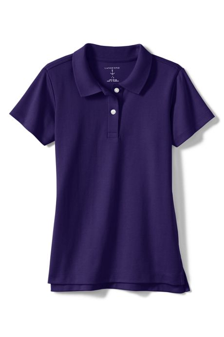 Girls Short Sleeve Feminine Fit Interlock Polo Shirt