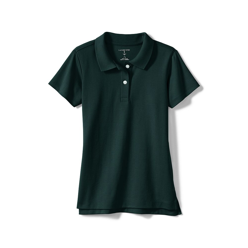 Lands' End School Uniform Girls' Short Sleeve Feminine Fit Interlock Polo Shirt at Sears.com