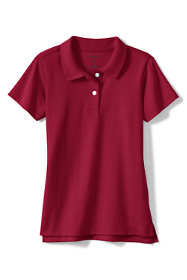 School Uniform Girls Short Sleeve Feminine Fit Interlock Polo Shirt