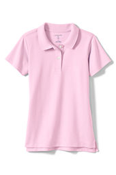 School Uniform Short Sleeve Feminine Fit Interlock Polo Shirt
