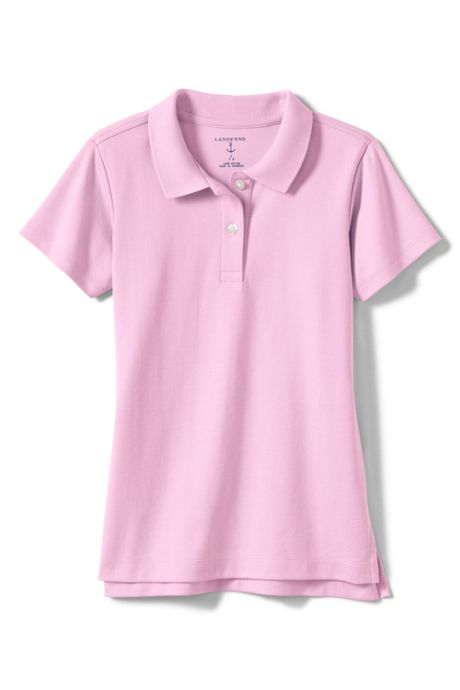 School Uniform Girls Short Sleeve Fem Fit Interlock Polo