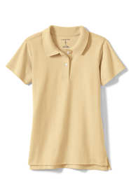 Little Girls Short Sleeve Feminine Fit Interlock Polo Shirt