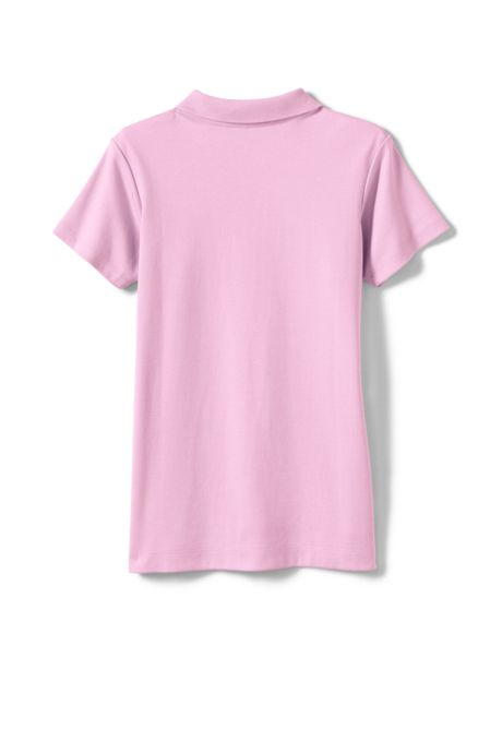 Logo Little Girls Short Sleeve Fem Fit Interlock Polo