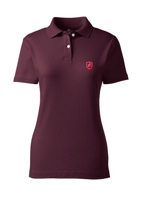 School Uniform Exclusive Women's Short Sleeve Fem Fit Interlock Polo