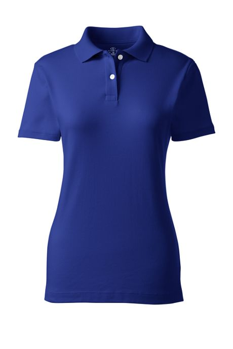 Women's Short Sleeve Feminine Fit Interlock Polo Shirt