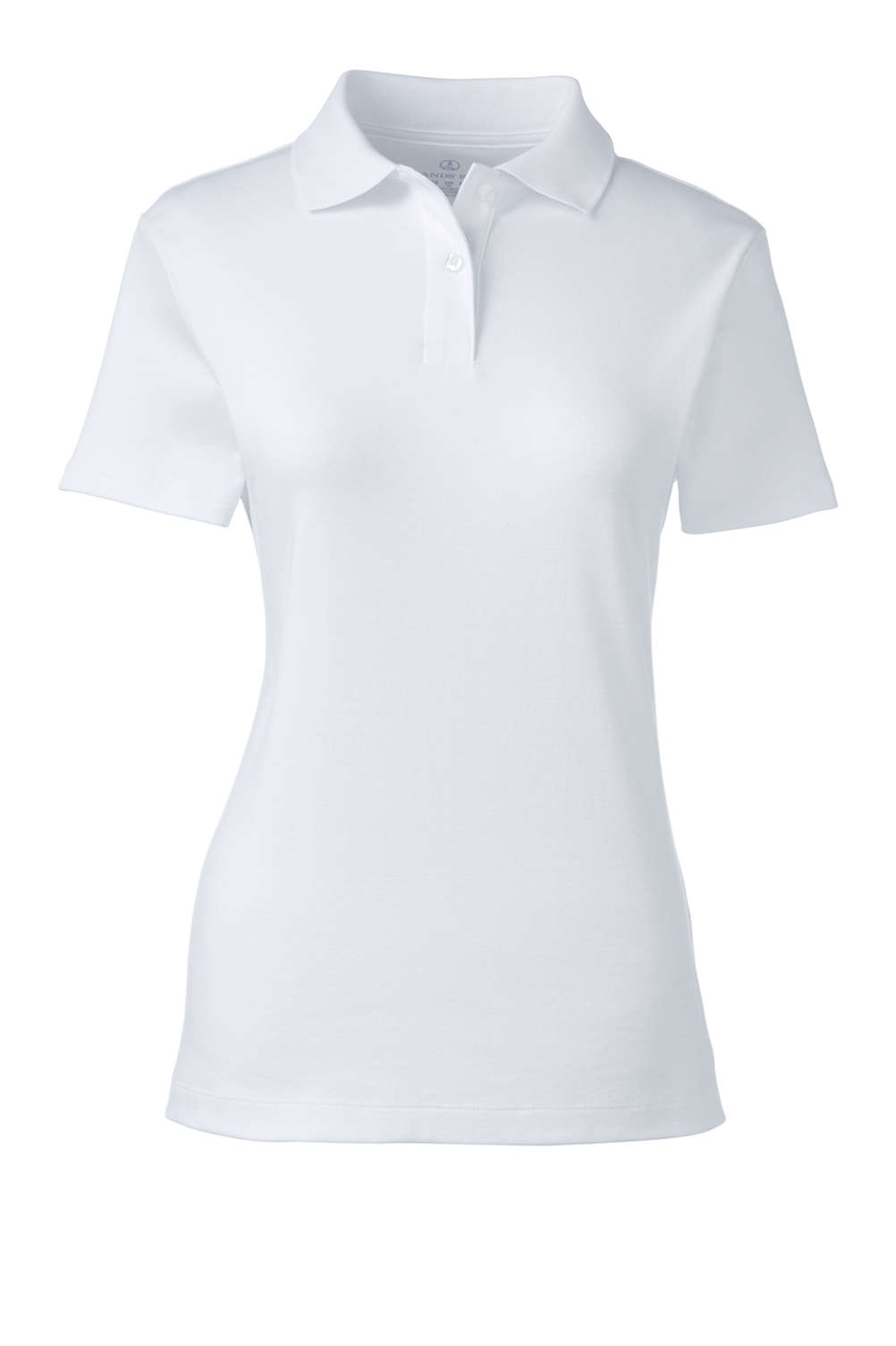 Women s Short Sleeve Fem Fit Interlock Polo Shirt from Lands  End f393e84896