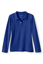 Women's Long Sleeve Feminine Fit Interlock Polo Shirt