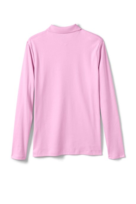 Little Girls Long Sleeve Feminine Fit Interlock Polo Shirt