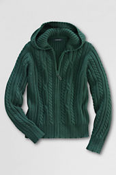 Girls' Cable Hooded Sweater