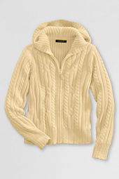 School Uniform Cable Hooded Sweater