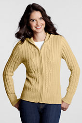 Women's Cable Hooded Sweater