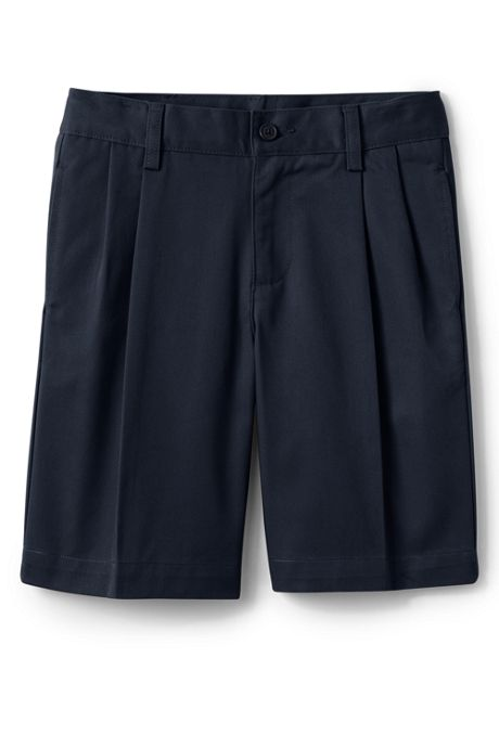 School Uniform Men's Blend Pleat Front Chino Shorts