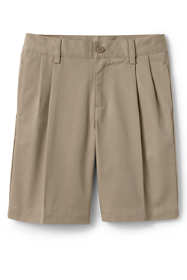 School Uniform Little Boys Blend Pleat Front Chino Shorts