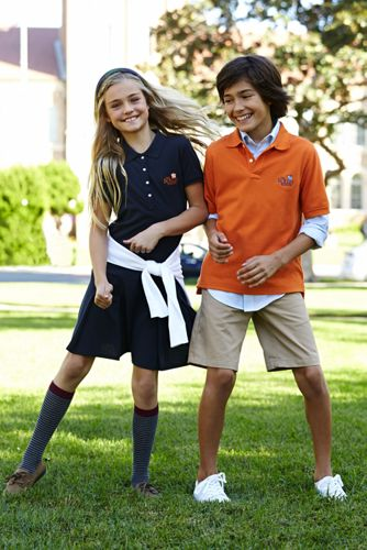 School Uniform Boys Cotton Plain Front Chino Shorts