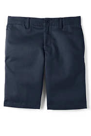 School Uniform Boys Husky Cotton Plain Front Chino Shorts