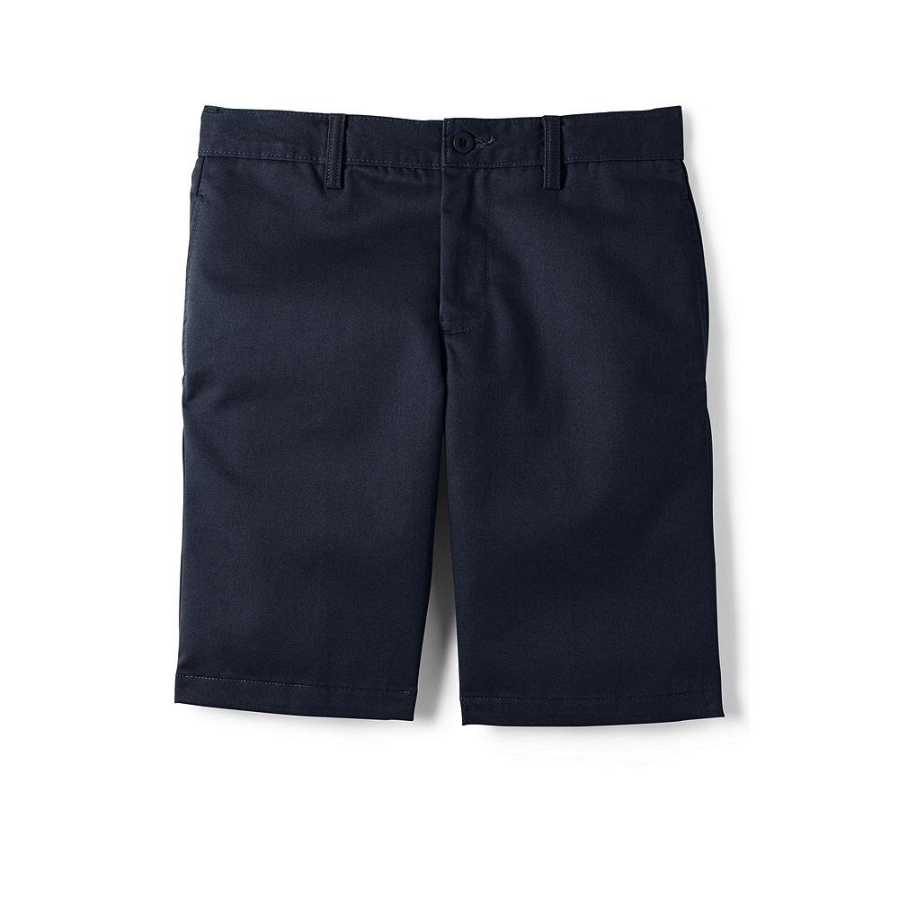 Lands' End School Uniform Young Men's Plain Front Stain & Wrinkle Resistant Chino Shorts