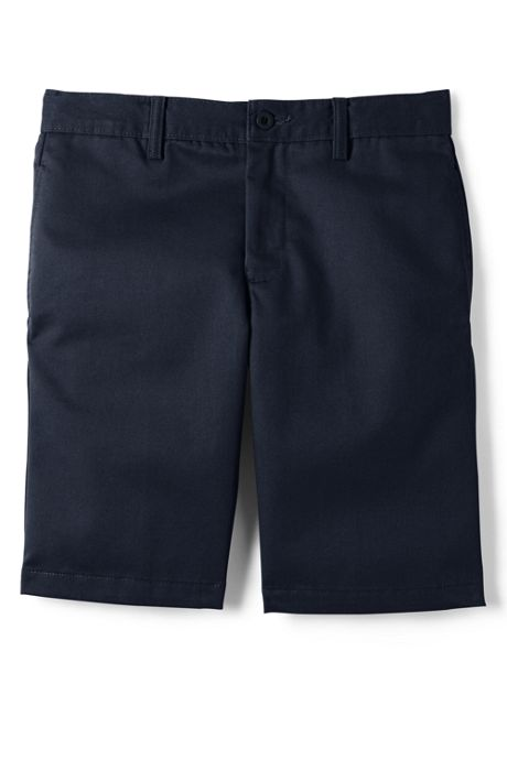 Boys Husky Cotton Plain Front Chino Shorts