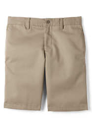 Boys Slim Cotton Plain Front Chino Shorts