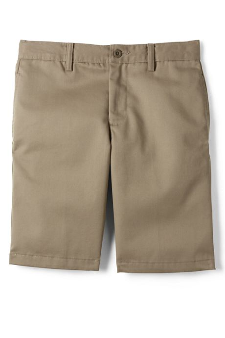 School Uniform Boys Slim Cotton Plain Front Chino Shorts