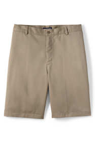 School Uniform Men's Cotton Plain Front Chino Shorts
