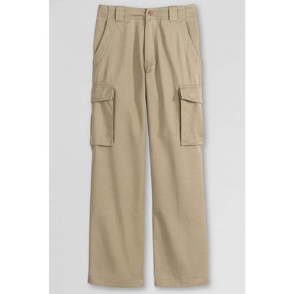 Lands' End School Uniform Mens Stain & Wrinkle Resistant Cargo Pants at Sears.com