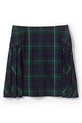 Girls' Side Pleat Plaid Skort (Above The Knee)