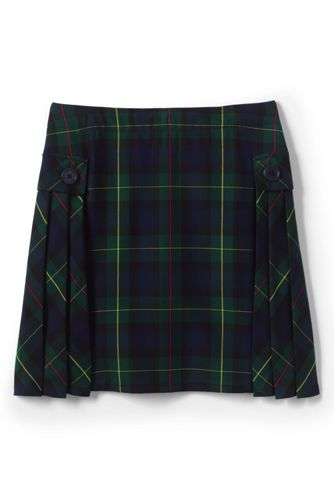 School Uniform Side Pleat Plaid Skort Above Knee From Lands End