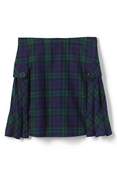 Little Girls' Side Pleat Plaid Skort (Above The Knee)
