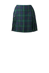 School Uniform Side Pleat Plaid Skort (Above The Knee)