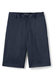 School Uniform Men's Plain Front Blend Chino Shorts