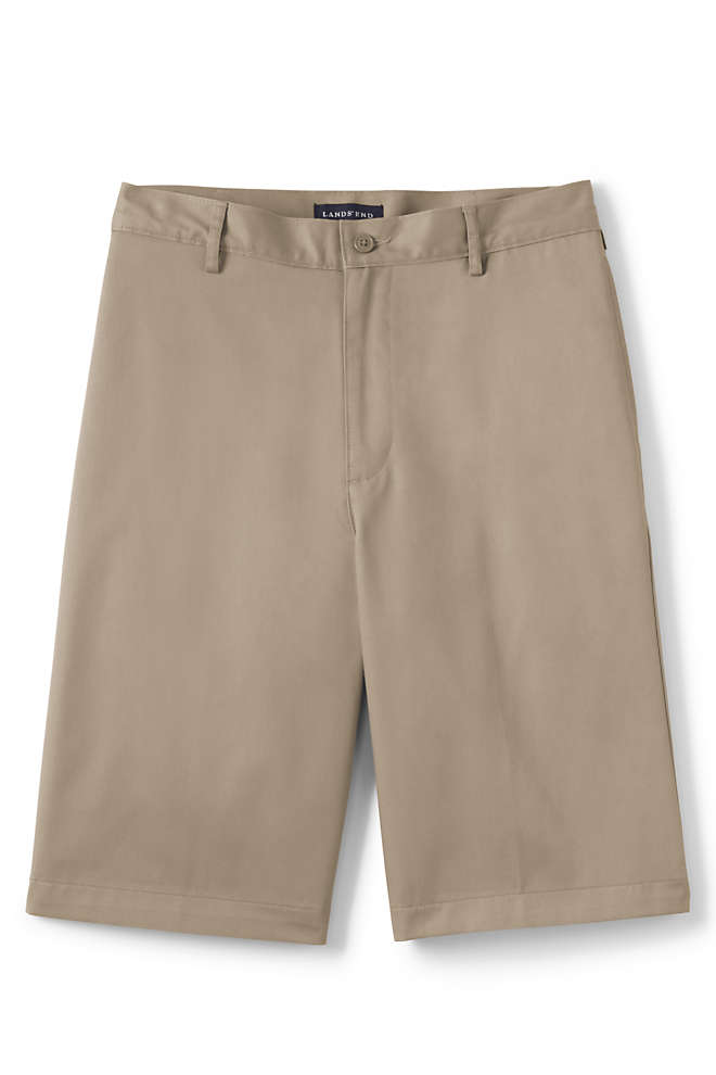Men's Plain Front Blend Chino Shorts, Front