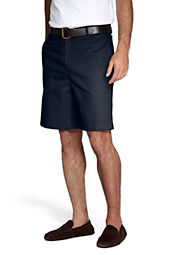 Men's Plain Front Blended Chino Shorts