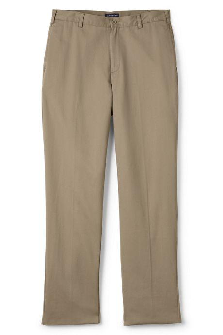 Men's Stain Resist Plain Front Chino Pants