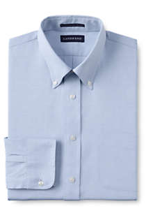 Men's Long Sleeve Buttondown Supima Pinpoint Shirt, Front