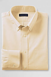 Men's Long Sleeve Buttondown Solid Pinpoint Shirt