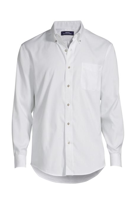 Men's Long Sleeve Buttondown Solid Supima Pinpoint Shirt