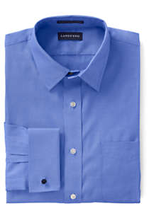 Men's Supima Pinpoint with French Cuff Dress Shirt, Front