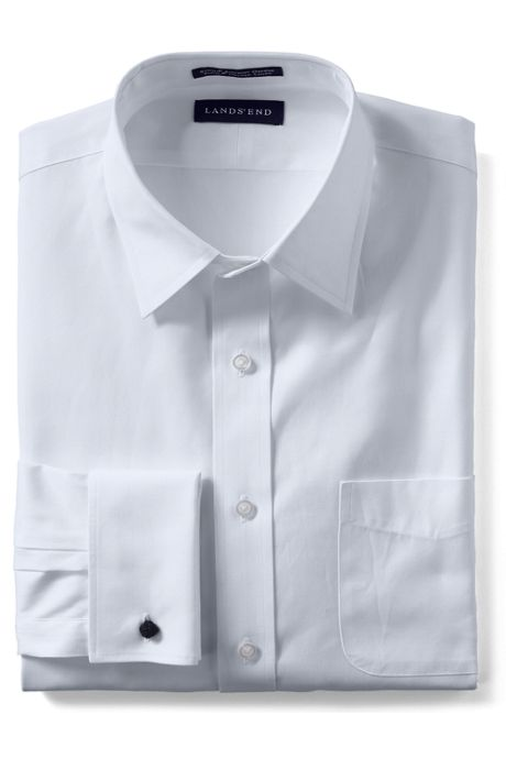 Men's Supima Pinpoint with French Cuff Dress Shirt