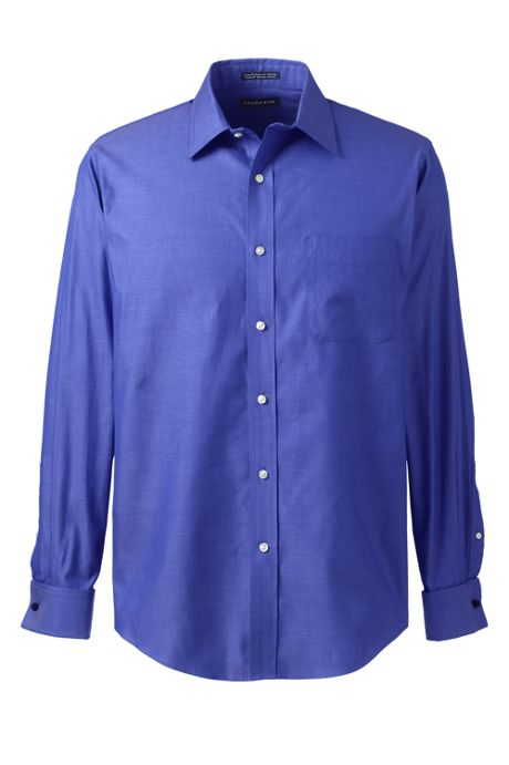 Men's Long Sleeve French Cuff Supima Pinpoint Shirt