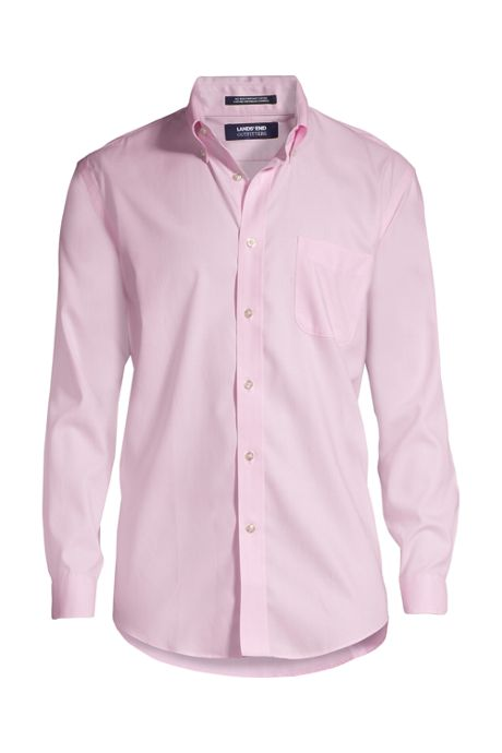 School Uniform Men's Tall Long Sleeve Buttondown No Iron Pinpoint Shirt